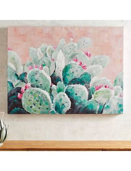 Cactus On Blush Sky Art by Pier1 Imports