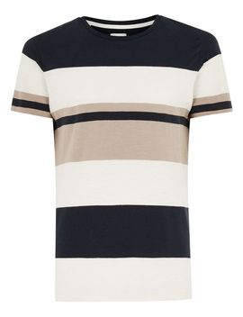 Selected Homme Navy And Stone T Shirt by Topman