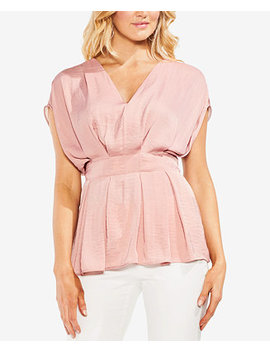 Cinched V Neck Top by Vince Camuto