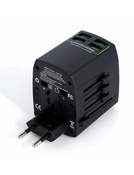 Worldwide Universal International Travel Adapter With 4 Usb Smart Charging Ports By Mlpc Accessories – Premium Rated Universal Travel Adapter. Use For Mobiles, Tablets And Many Other Devices & Appliances. Works In Over 150 Countries Including, Usa, E..... by Mlpc Accessories