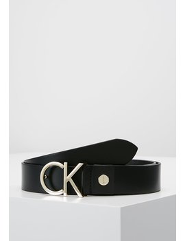 Logo Belt   Pasek   Black/Light Gold by Calvin Klein