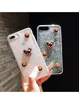 3 D Bling Glitter Silicone/Gel/R<Wbr>Ubber Clear Case Cover For I Phone 7 8 Plus X 6 S by Dinguier