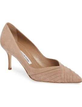 Croda Pleated Pointy Toe Pump by Manolo Blahnik