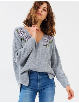 Iconic Exclusive   Lucinda Embroidered Jumper by Atmos&Here