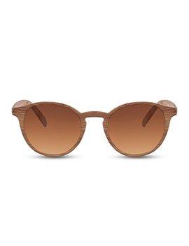 Cheapass Sonnenbrille Holz Runde Gläser Vintage Plastik Damen Herren by Amazon