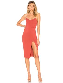 Zarah Strapless High Slit Midi Dress by By The Way.