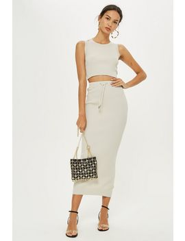 Petite Ribbed Tube Skirt by Topshop