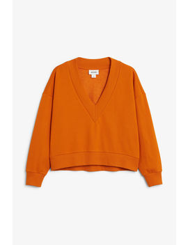 V Neck Sweatshirt by Monki