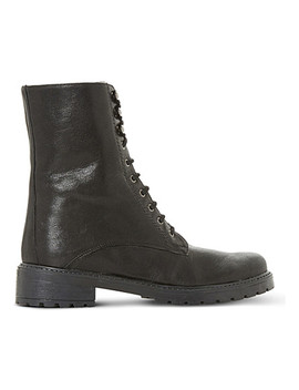 Rayko Lace Up Leather Boots by Dune