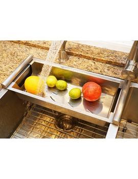 Boann Modern Satin Stainless Kitchen Sink Colander by Boann