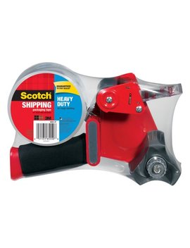 Scotch Heavy Duty Shipping & Packaging Tape Dispenser, 1.88 In. X 60 Yd. Per Roll, Clear, 1 Roll/Pack by Scotch