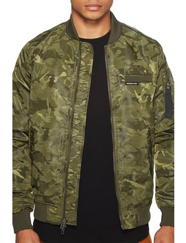 Mo 1 Jacquard Bomber Jacket by Members Only