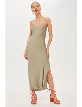 Petite Plain Satin Slip Dress by Topshop