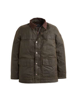 Joules Halley Stevenson Wax Jacket, Olive by Joules
