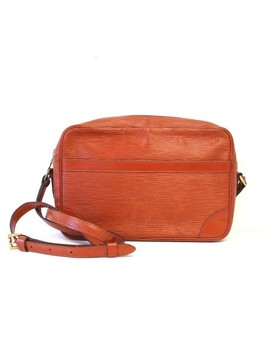 Trocadero Epi Burnt Orange Leather Cross Body Bag by Louis Vuitton