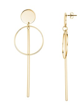 Disc, Circle And Bar Drop Earrings by Argento Vivo