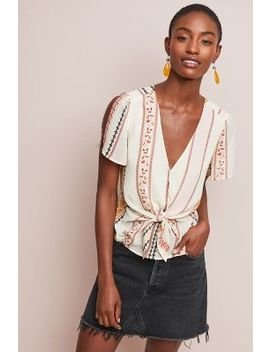 Candice Fitted Top by Anthropologie