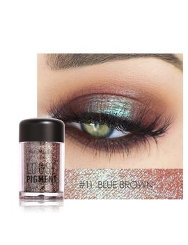 Focallure 18 Colors Glitter Eyeshadow Powder Waterproof Loose Shimmer Eyeshadow Pigment Powder 3 D Nude Metallic Eyeshadow Powder by Focallure