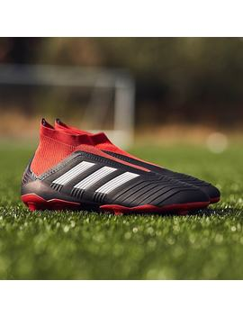 Adidas Predator 18+ Fg   Core Zwart/Wit/Rood by Pro Direct Soccer