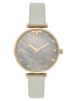 Queen Bee Leather Strap Watch, 30mm by Olivia Burton