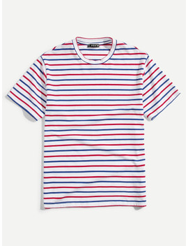 Men Striped Short Sleeve T Shirt by Shein