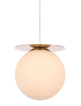 Stella Opal Glass Ball Pendant Light (H125 50cm X W27cm) by Matalan