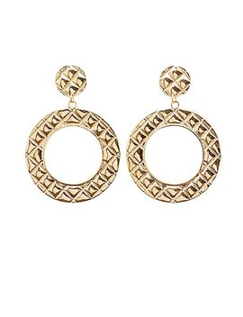 Quilted Hoop Earrings by Charlotte Russe