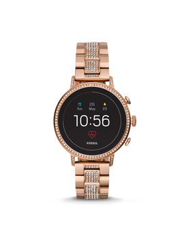 Gen 4 Smartwatch   Q Venture Hr Rose Gold Tone Stainless Steel by Fossil