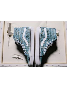 Vans X Vincent Van Gogh Museum Almond Blossom Sk8 Hi Sneaker Size 6 Shoe by Vans