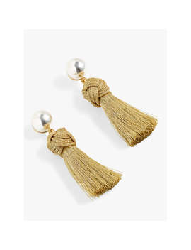 J.Crew Statement Tassel Drop Earrings, Gold by J.Crew
