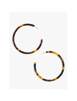 J.Crew Hoop Earrings, Tortoise by J.Crew