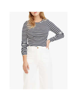 J.Crew Perfect Fit Stripe Long Sleeve T Shirt, Navy/Ivroy by J.Crew