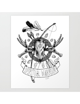 Spiritual Warrior Art Print by