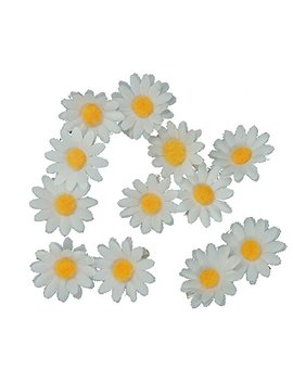 [12 Packed] Girls Sweet Daisy Hairpin Side Bridesmaid Hair Clip Beach Wedding Flower Hair Accessory by Backgarden