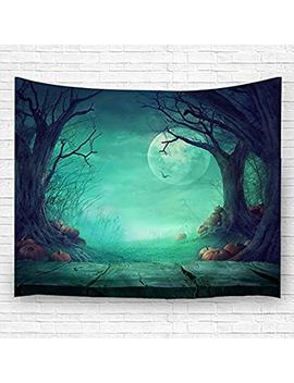 Festival Tapestry Decorative Hanging Ornaments Wall Hanging With Halloween Tree 150200 Cm (10) by Qihua