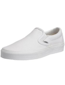 Vans Vans Classic Slip On Skate Shoes Men 9.5 Women 11 (True White) by Vans
