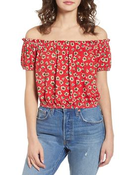 Floral Off The Shoulder Top by Chloe & Katie
