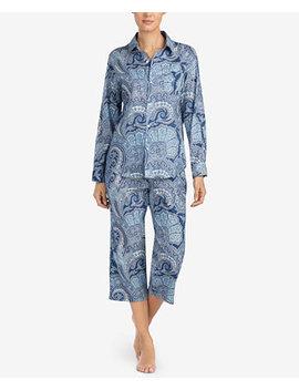 Classic Wovens Paisley Print Capri Pajama Set by Lauren Ralph Lauren