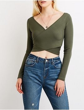 Wrap Crop Top by Charlotte Russe
