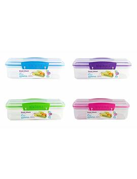 Sistema Snack Attack To Go 410ml / 13.86oz Two Compartments Lunch Box Container, Colors Vary, 2 Pack by Sistema