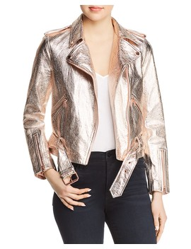 Metallic Leather Moto Jacket by True Religion