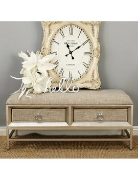 Cole & Grey Metal And Wood Storage Bench & Reviews by Cole & Grey