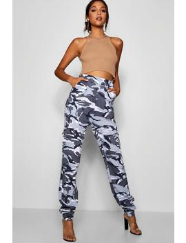 Tall Camo Loop Back Cargo Trousers by Boohoo