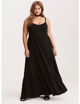 Black Tiered Jersey Maxi Dress by Torrid