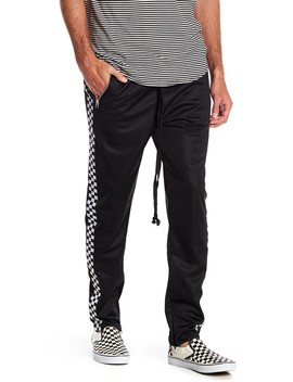 Checkered Panel Track Pants by American Stitch