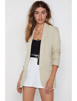 Keep Out Of It Linen Blazer by Nasty Gal