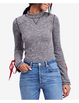 Lace Up Sleeve Sweater by Free People