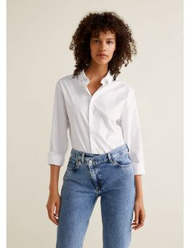 Jean Straight Taille Croisée by Mango