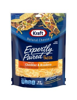 Kraft Shreds Cheddar & Asadero Expertly Paired For Tacos, 8oz by Kraft