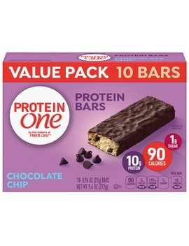 Protein One 90 Calorie Chocolate Chip Bars 10 Ct Value Pack, 9.6 Oz by General Mills